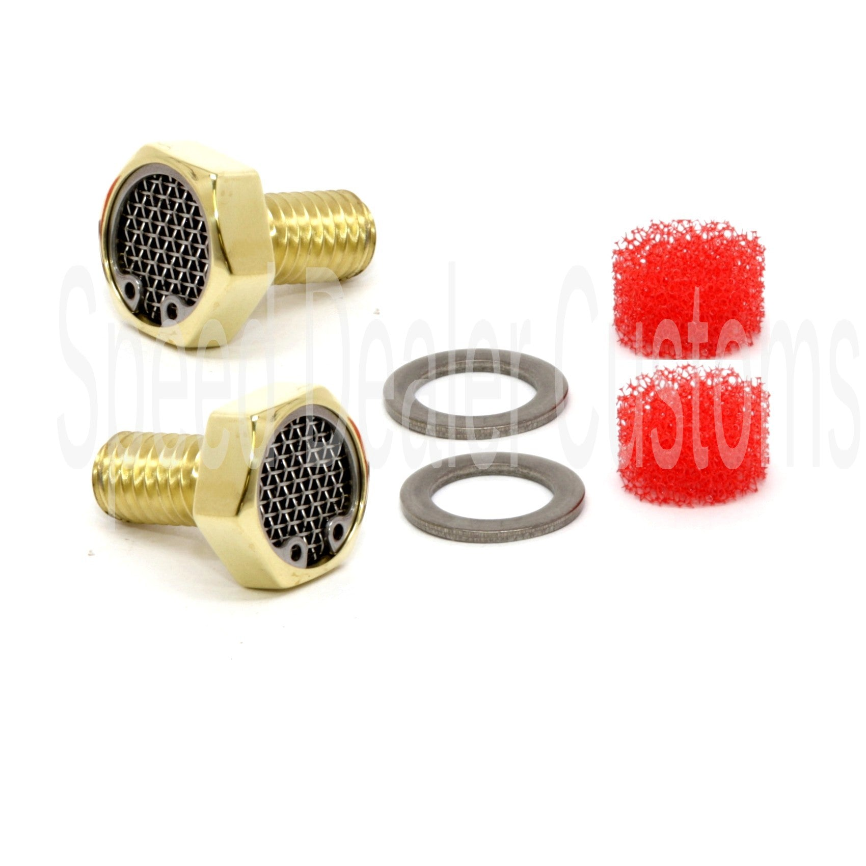 Twin Cam Breather Bolts Kit Knurled Brass for Harley Softail Dyna Touring CVO