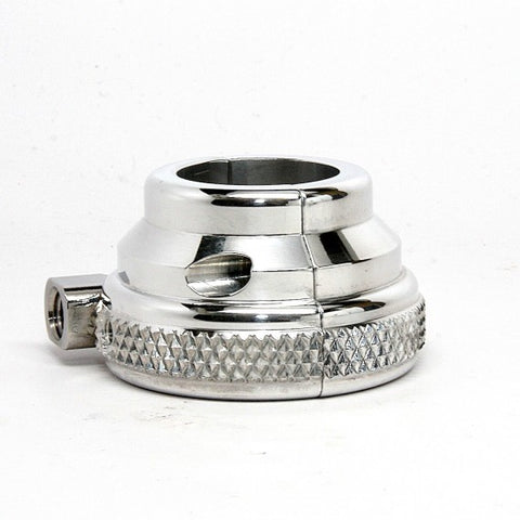 1 inch black grip sleeve with knurled single polished throttle housing