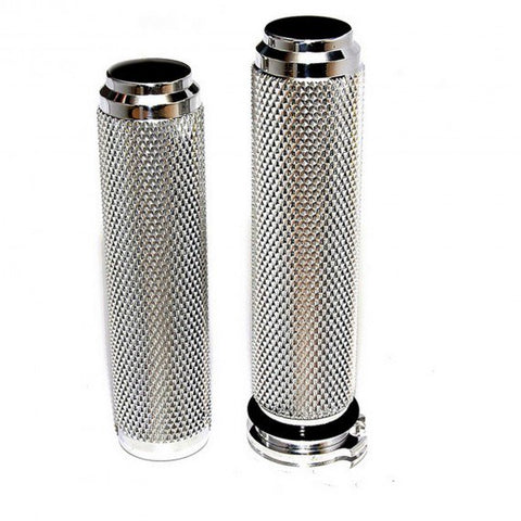 1 inch MOTORCYCLE GRIPS-POLISHED ALUMINUM