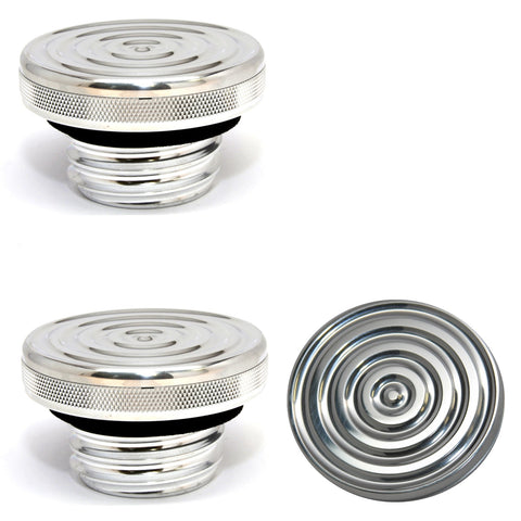 Speed Dealer Harley Davidson Gas Cap Bullseye Version Polished Aluminum