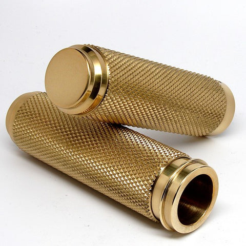 SPEED DEALER CUSTOMS 1 inch THROTTLE BY WIRE SOLID BRASS GRIPS
