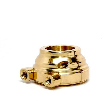 Dual Cable Smooth OD Motorcycle Throttle Housing Brass