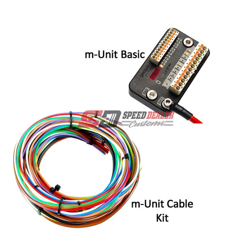 motogadget m-unit basic and m-unit cable kit for motorcycles