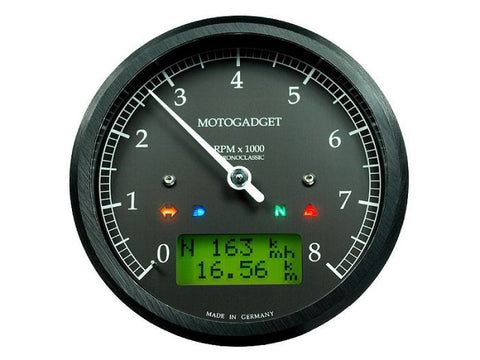 MOTOGADGET CHRONOCLASSIC 10K GREEN LCD (MSC)-BLACK