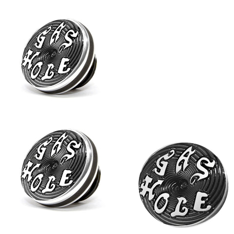 Speed Dealer Harley Davidson Gas Cap Gas Hole Lettering Machined with Black Background