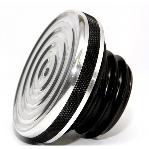 Speed Dealer Harley Davidson Gas Cap Bullseye Version-Accent Machined Polished Bullseye Top