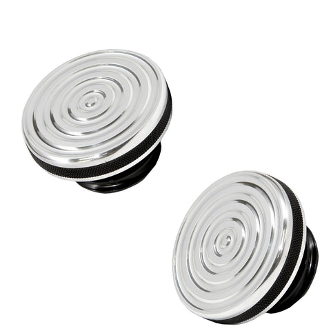 Speed Dealer Harley Davidson Gas Cap Bullseye Version Polished Aluminum with Black Anodized OD