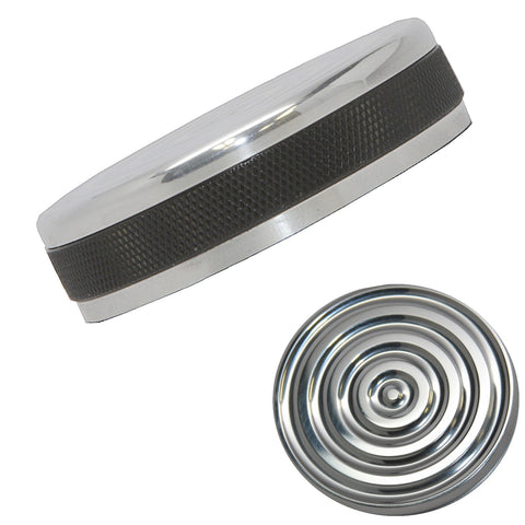 Accent Machined Polished Bullseye Bayonet Shovelhead gas cap for Harley Davidson Years 1973 to 1982