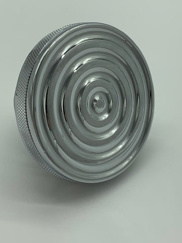 Speed Dealer Customs Chrome Gas Cap Bullseye Series for Harley Davidson-DISCOUNTED
