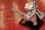 Caliber Chrome Plated Billet Forward Controls for Harley Softail 1986-99
