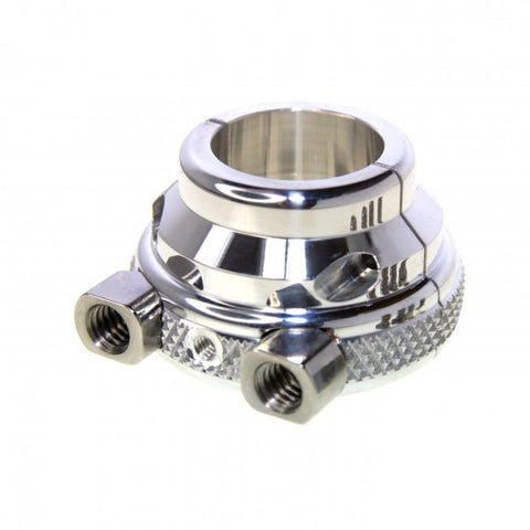 7/8 Inch Knurled Chrome Dual Cable Harley Throttle Housing