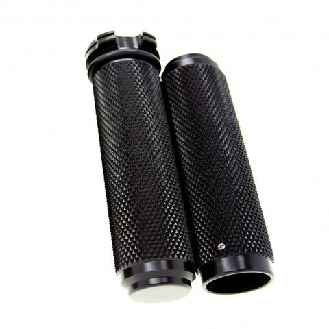 1 inch black anodized motorcycle grips