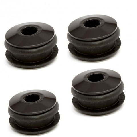 OIL BAG OR FUEL TANK MOUNT RUBBER ISOLATORS-BLACK ANODIZED