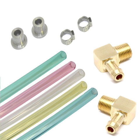 Fuel Sight Gauge Kit with Brass Elbow Fittings