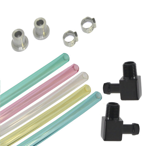 Fuel Sight Gauge Kit with Black Elbow Fittings