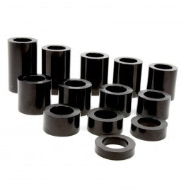 "Speed Dealer Performance Wheel Axle Spacer Kit I.D. 3/4"" (0.75) - O.D. 1-1/4"" (1.25) - 13 Spacers-BLACK"