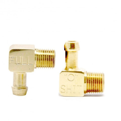 Fuel Sight Gauge Kit with Brass Elbow Fittings with Indicator Text