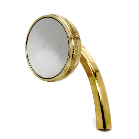 2.5 inch left hand brass mirror