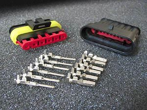 MOTOGADGET PLUG CONNECTOR KIT 6-PIN AMP STYLE
