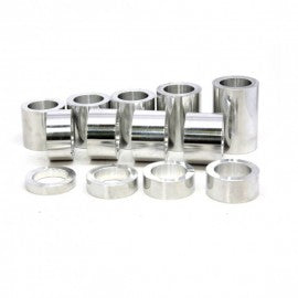 "Speed Dealer Performance Wheel Axle Spacer Kit I.D. 3/4"" (0.75) - O.D. 1-1/4"" (1.25) - 13 Spacers-POLISHED"