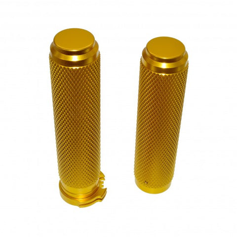 1 inch  MOTORCYCLE GRIPS-GOLD ANODIZED