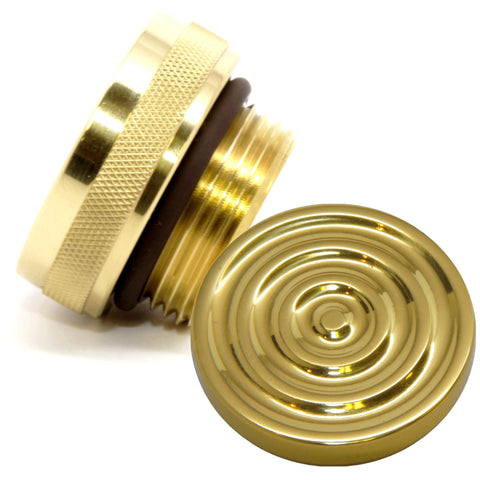 "brass and aluminum bullseye motorcycle oil cap for 1-1/4"" thread oil bags"