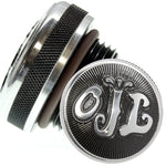 accent machined letters motorcycle oil cap for custom choppers 1-5/16 inch