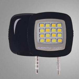 Mini Flash para Selfies com 16 Lâmpadas de LED