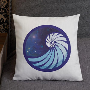 GHRL Wave Symbol - Square Pillows