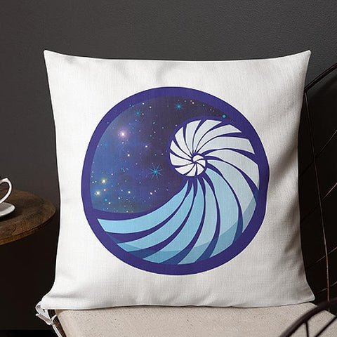 Image of GHRL Wave Symbol - Square Pillows