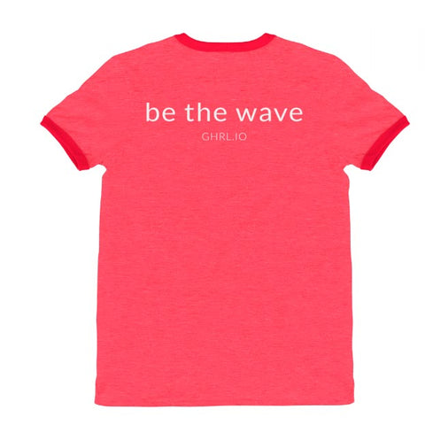 Image of GHRL Wave Symbol - Ringer T-shirts