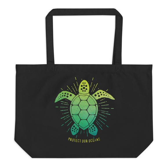 SEA TURTLE Large organic tote bag