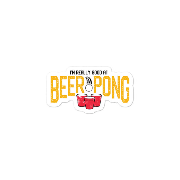 BEER PONG Bubble-free stickers