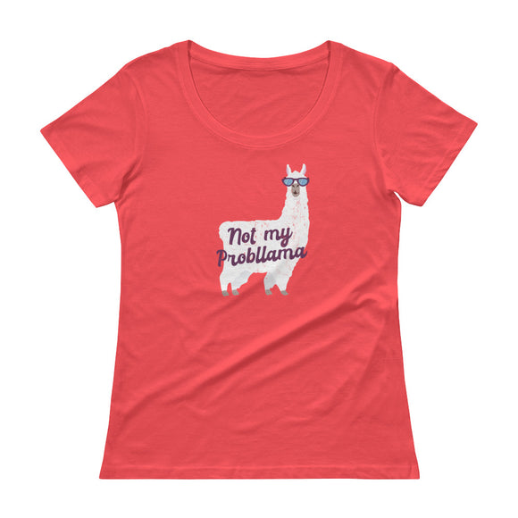 LLAMA Ladies' Scoopneck T-Shirt