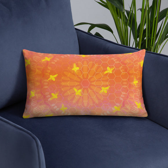 BEE HIVE Long Throw Pillow