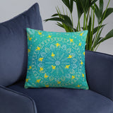 BEE HIVE Square Throw Pillow