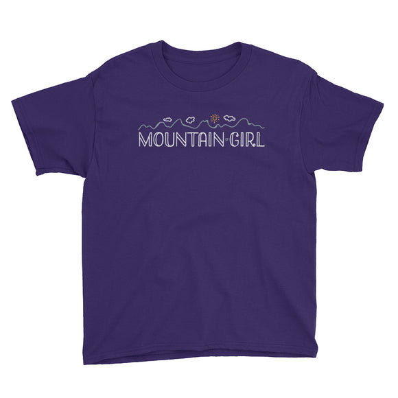 MOUNTAIN GIRL Youth Short Sleeve T-Shirt