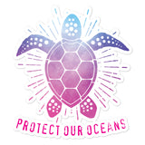 SEA TURTLE Bubble-free stickers