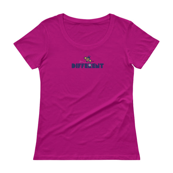 BEE DIFFERENT Ladies' Scoopneck T-Shirt