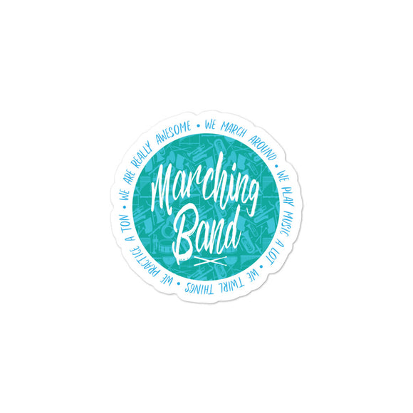 MARCHING BAND Bubble-free stickers