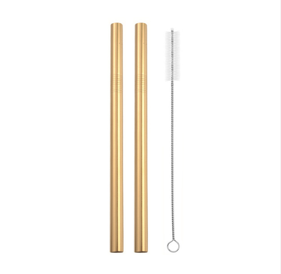 Extra Large Straw Reusable 304 Stainless Steel Straw Straw Metal For Smoothies Tapioca Beads Milk Tea 2pcs