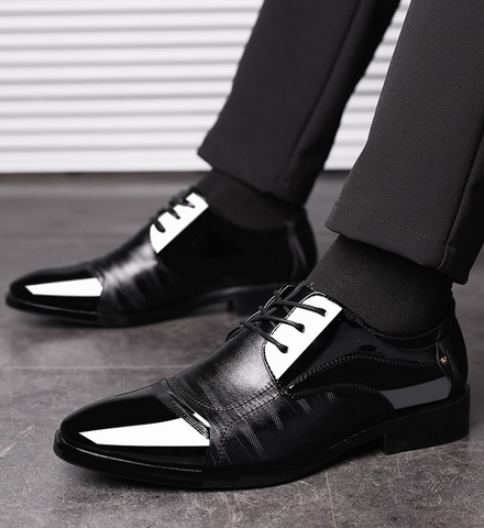 2018 summer new shoes men's business dress large size shoes fashion hundred tower wedding shoes