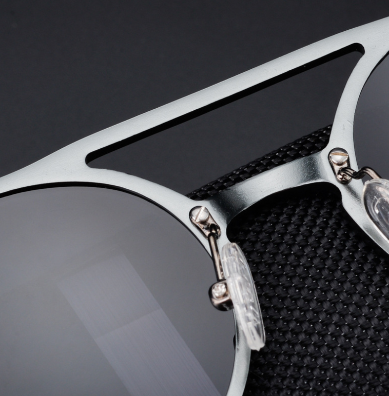 New men's polarized sunglasses Vintage round frame fashion sunglasses Aluminum magnesium glasses Driving sunglasses
