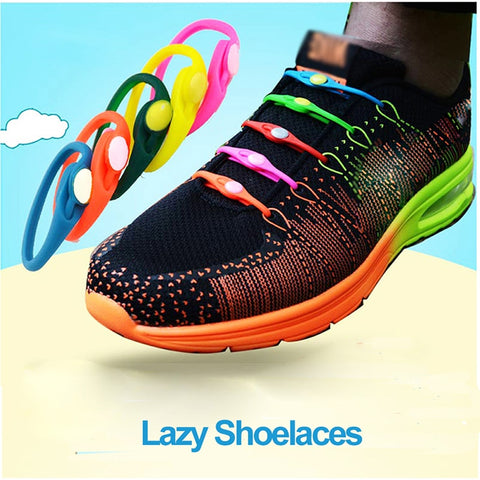 14pcs Lazy No Tie Elastic Silicone Shoelaces Athletic Running Sport Shoelaces Children and Adult Shoe Strings For NMD sneakers