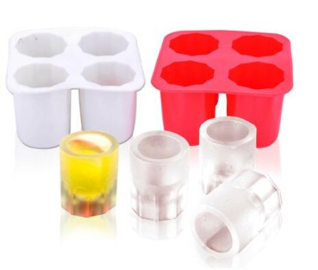 Silicone Ice Maker Mould Bar Party Drink Ice Tray Cool Shape Ice Cube Freeze Mold 4-Cup Ice Mold Cup