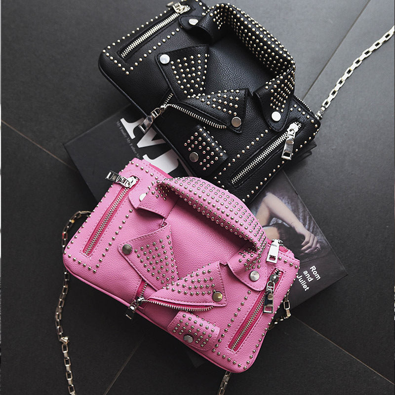 Summer new women's bag fashion personality chain clothes jacket shoulder diagonal female bag