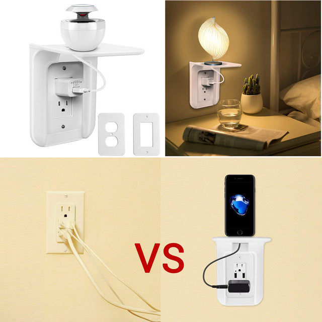 Hot sale Wall Outlet Shelf Power Easy Installation
