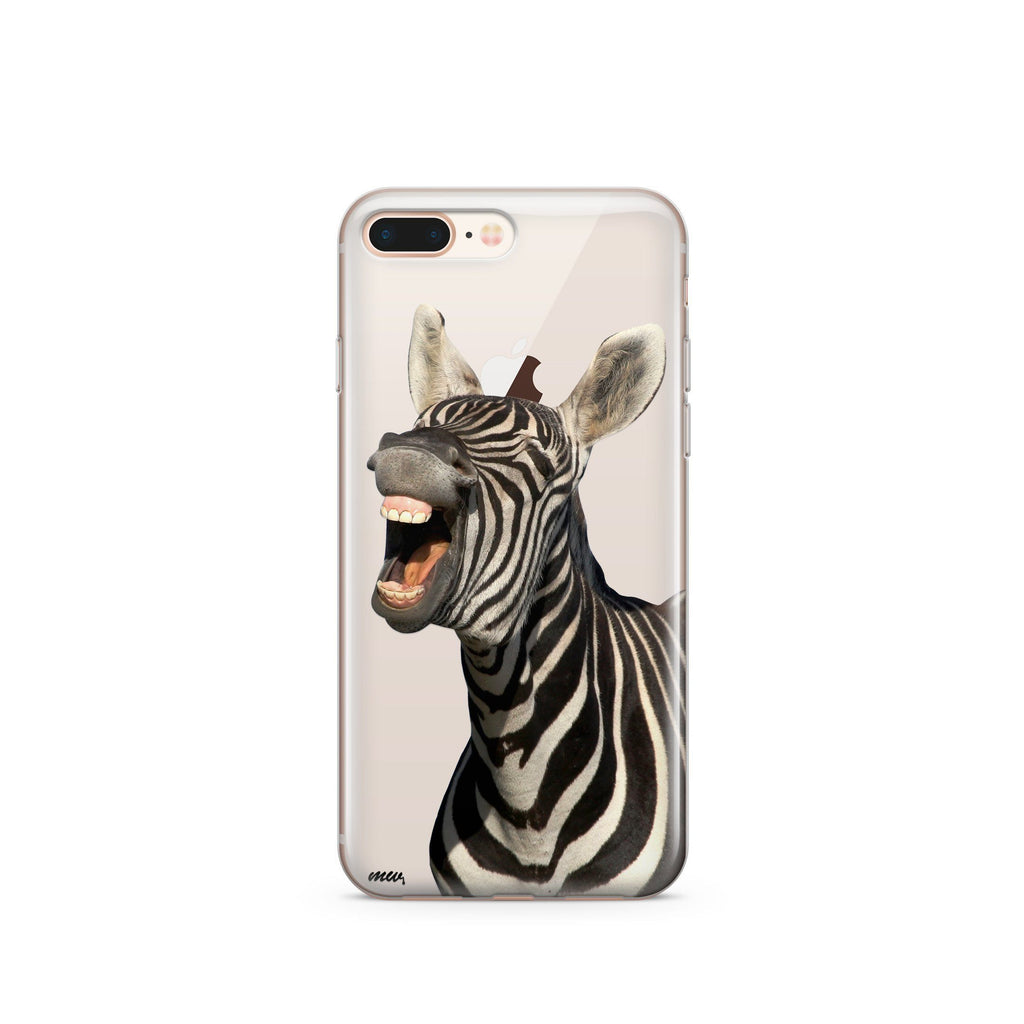 Laughing Zebra - Clear TPU Case Cover