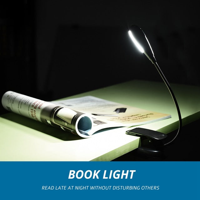 Rechargeable Book Light Single-head 4 LED Lights