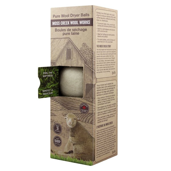 Moss Creek Wool Dryer Balls 3 Pack